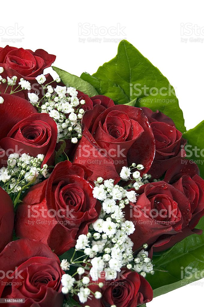 Valentines Day Bouquet of Red Roses royalty-free stock photo