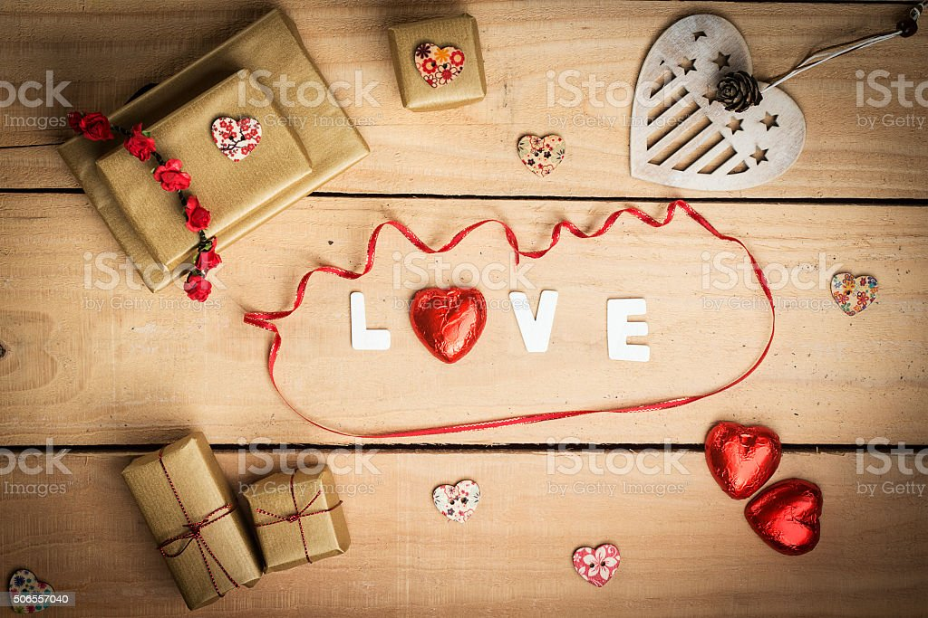 Valentines day card concept stock photo