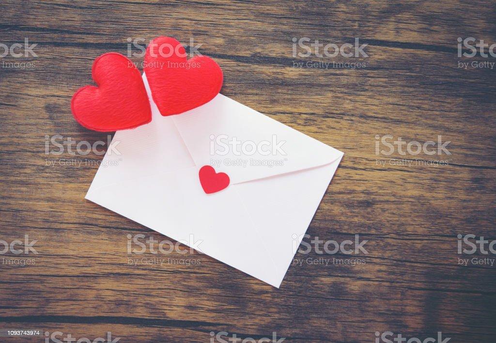Valentines day card romantic / Envelope love mail Valentine Letter...