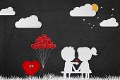 Valentines Day Child Cartoon Background