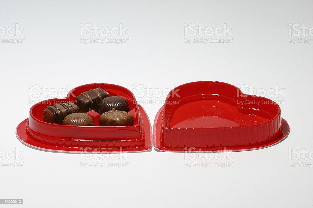 Valentine's Day Chocolates 1 royalty-free stock photo