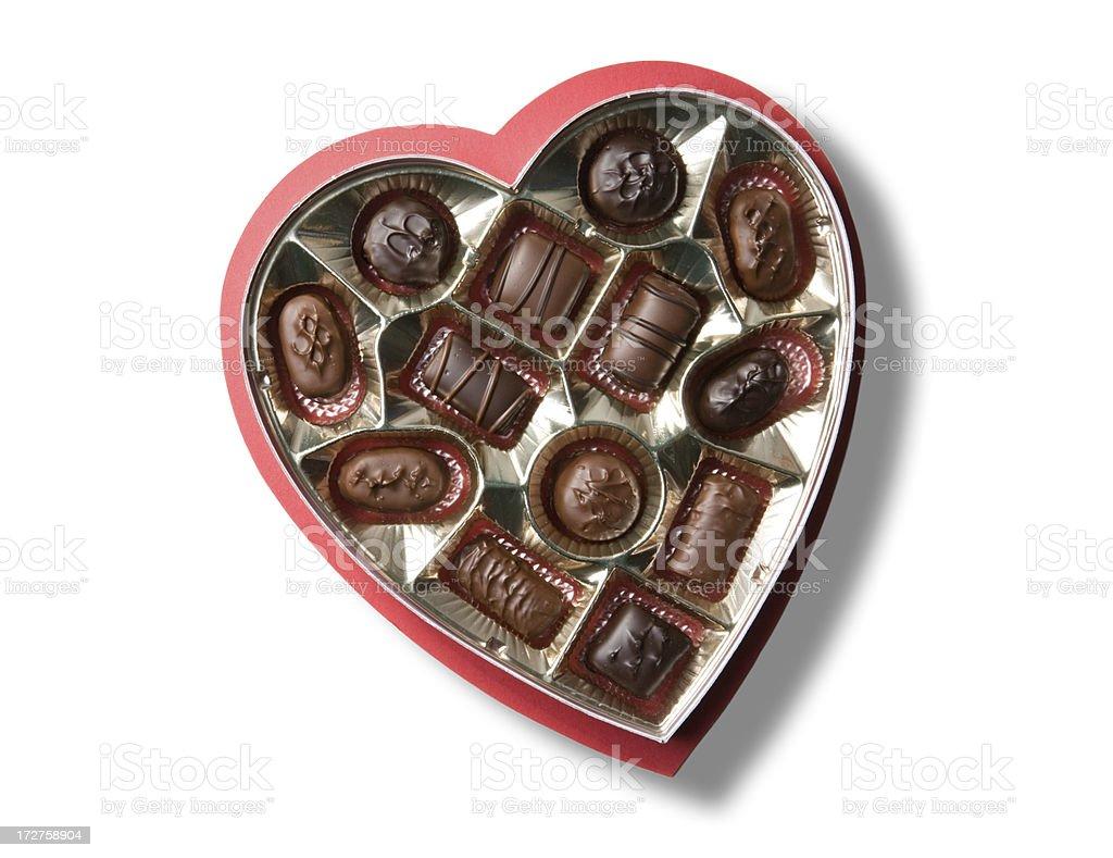 Valentine's Day Chocolates royalty-free stock photo