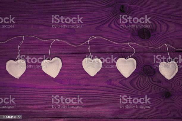 Valentines day concept design flat layeco linen hearts garland on picture id1205057277?b=1&k=6&m=1205057277&s=612x612&h=le9n7ilby5j8iot0sqmgmghaen6gsmb0elrxjfkvtsc=