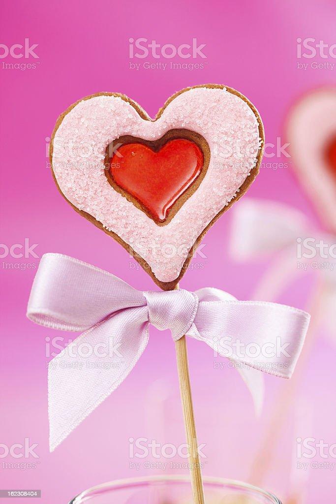 Valentine's day cookie stock photo
