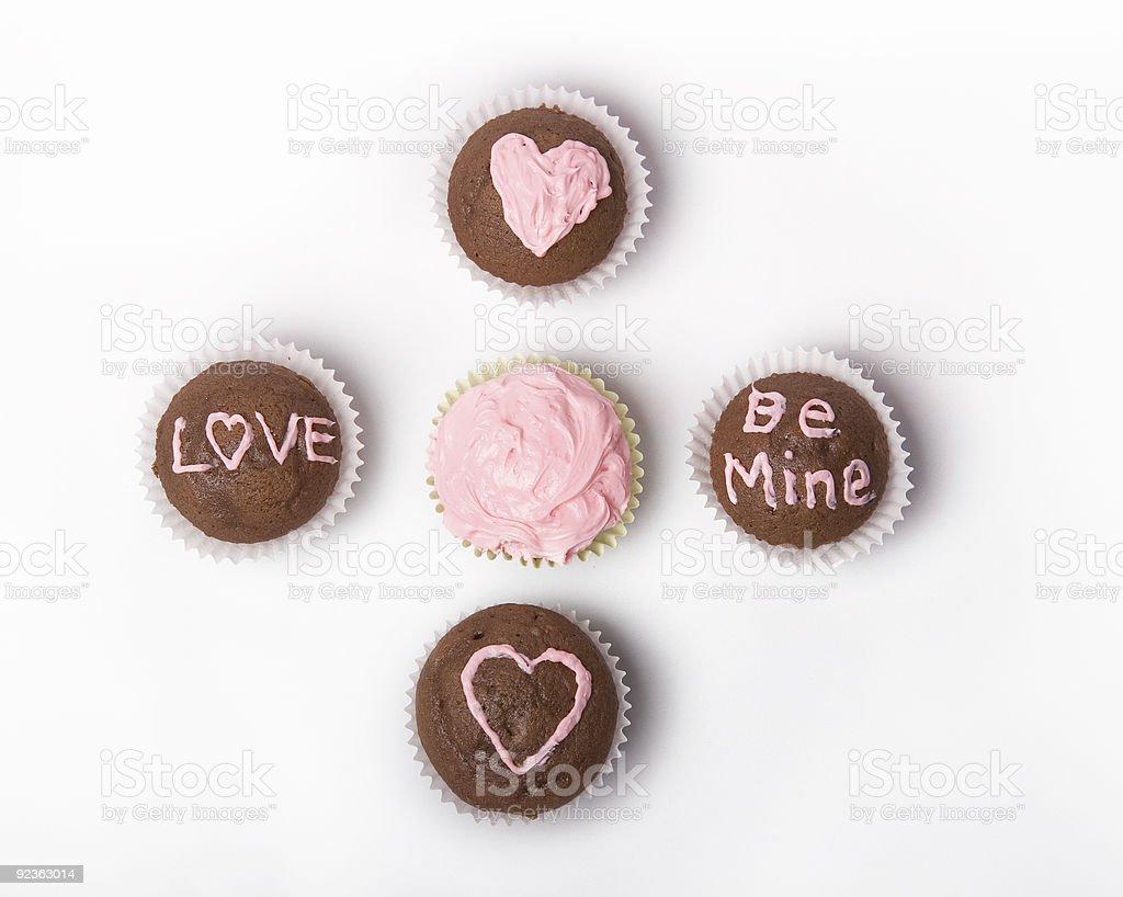 Valentinstag-Cupcakes Lizenzfreies stock-foto
