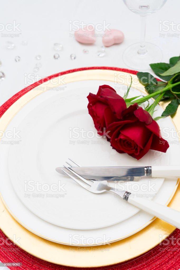 Valentines Day Dinner stock photo