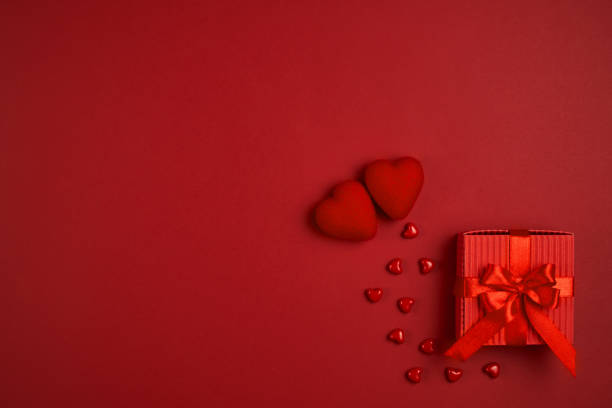 Valentine's Day. Empty space for your text. Elegant illustration. stock photo
