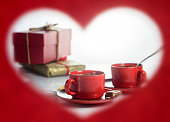 istock Valentine's Day. Frame in the form of heart 907866774