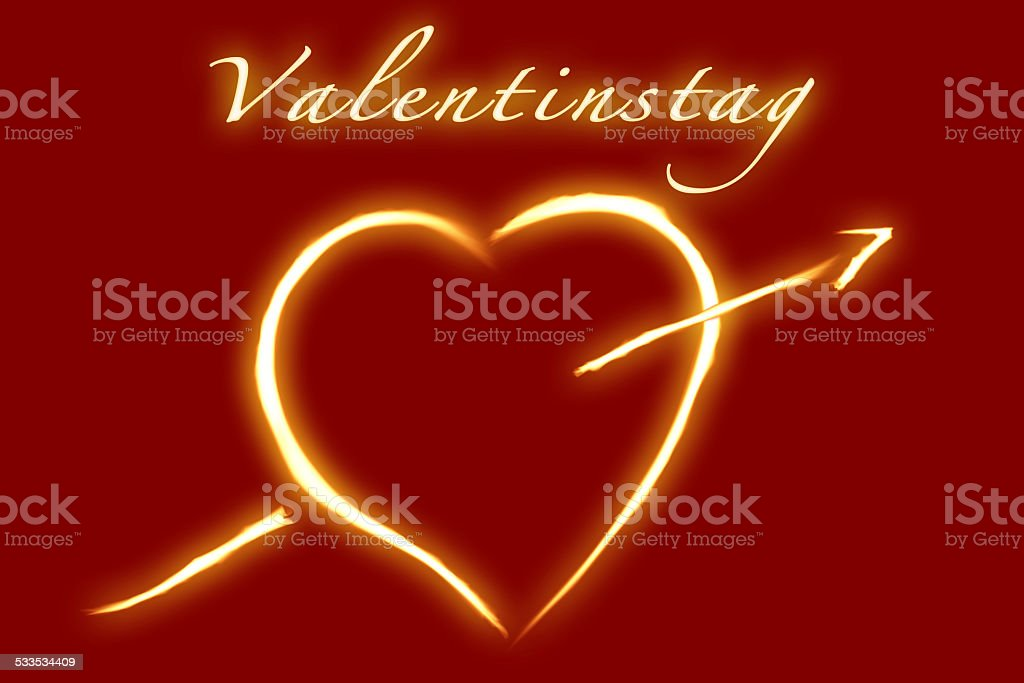 valentines day german writing royalty free stock photo