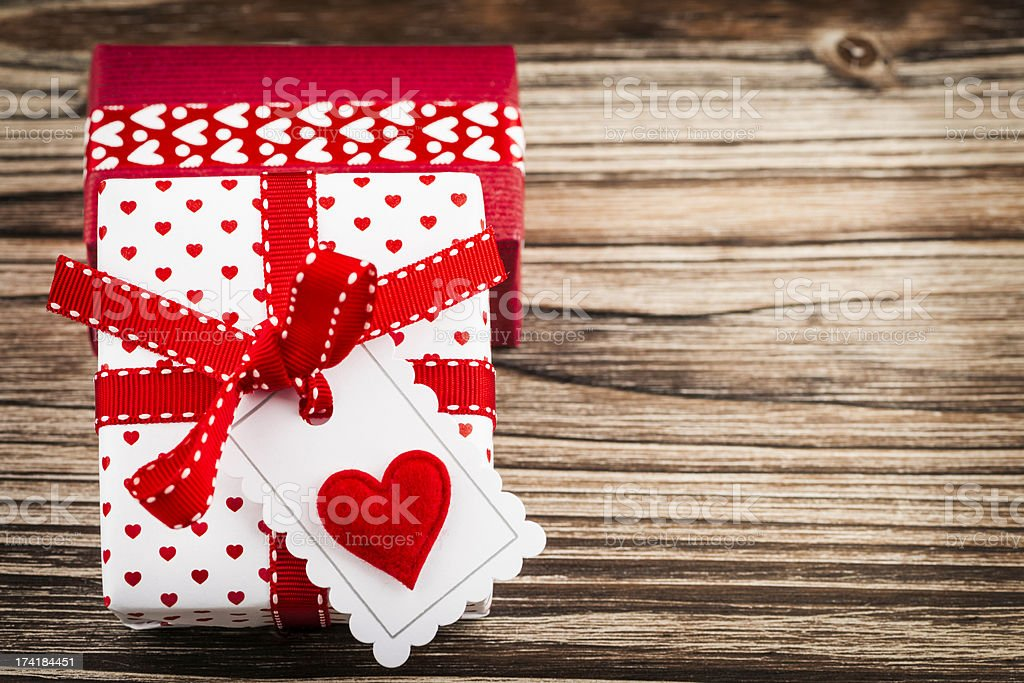 Valentine's Day Gifts with Copy Space royalty-free stock photo