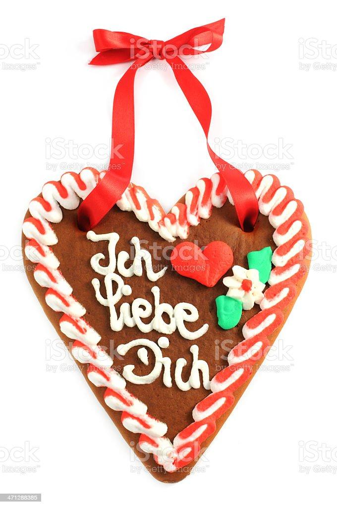 Band, Herzform, Ingwerkuchen, Keks, Kuchen. Valentinstag Gingerbread ...