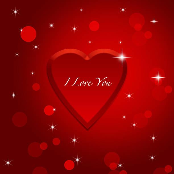 Valentine's day greeding  card template stock photo