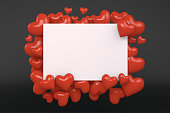 Valentine's Day Greeting Card, Hearts