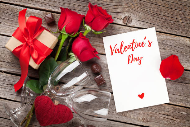 tarjeta de felicitación de san valentín - día de san valentín fotografías e imágenes de stock