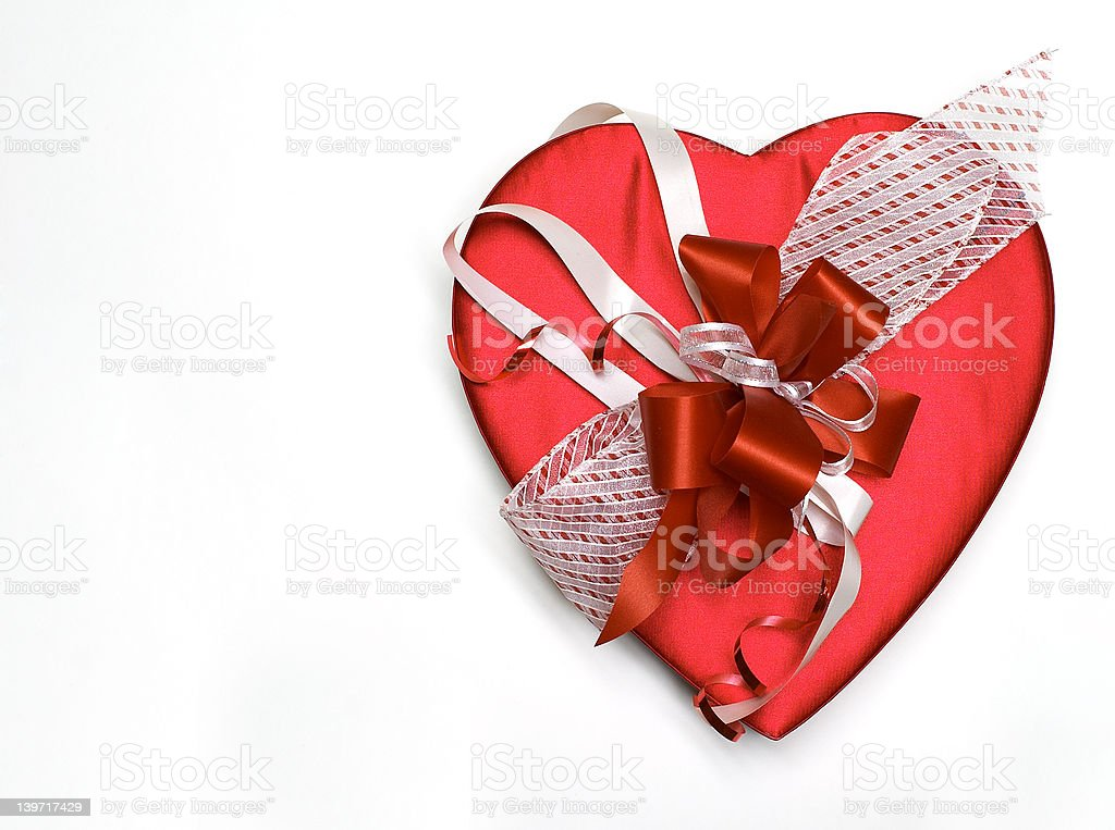Valentine's Day Heart and Bow 2 royalty-free stock photo