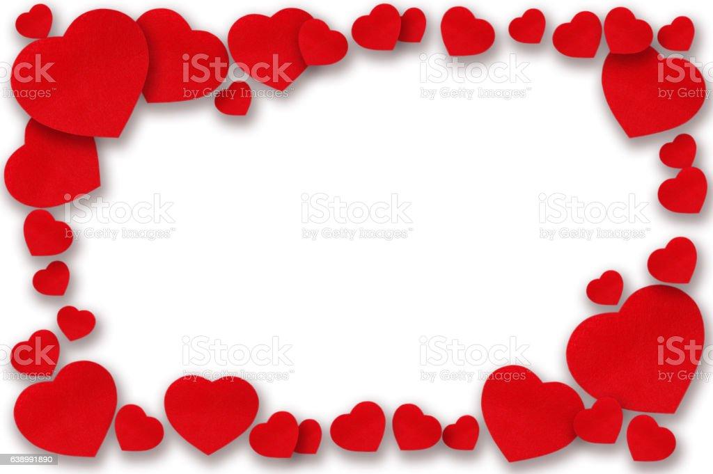 Valentine's Day, heart frame stock photo