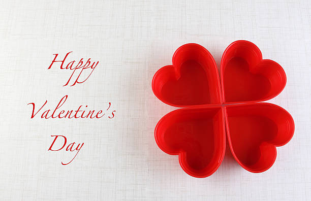 Valentine's day heart greeting card background stock photo