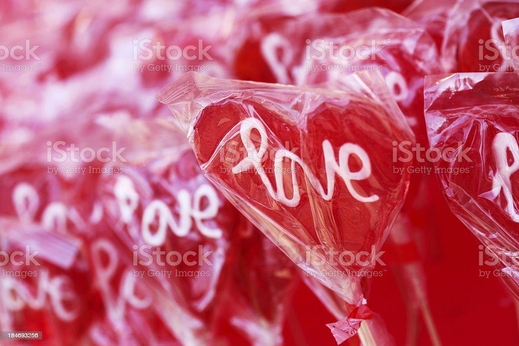 Valentine's day hearts lollipop royalty-free stock photo
