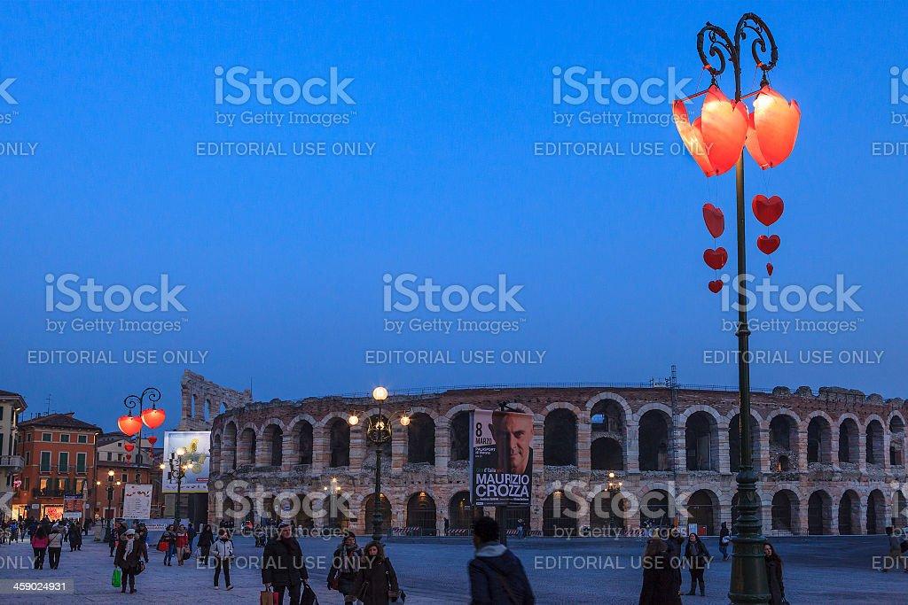 Valentine's Day in Verona, Italy royalty-free stock photo