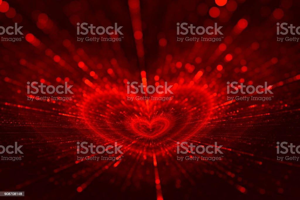 Valentines Day Love Red Black Heart Texture Pattern stock photo