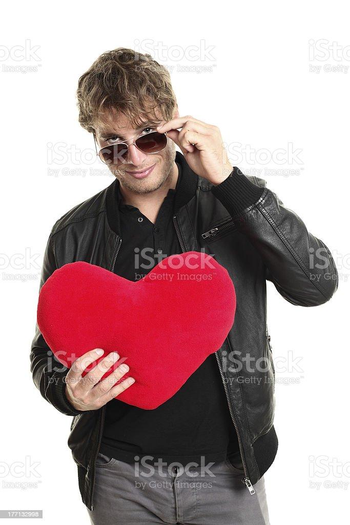Valentines day man player stock photo