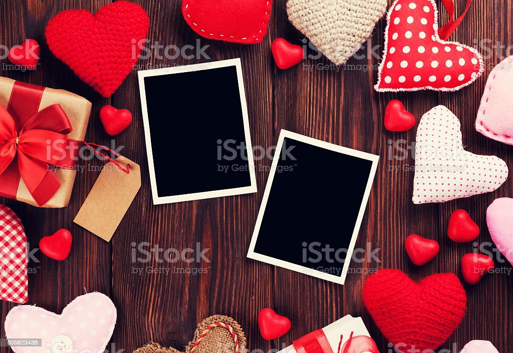 Paquete Valentines Day Día Y Corazones Marcos De Fotos - Fotografía ...
