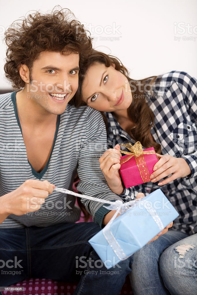 Valentine's Day present royalty-free stock photo