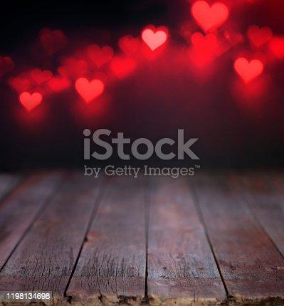 Valentine's Day Red Defocused Lights Background
