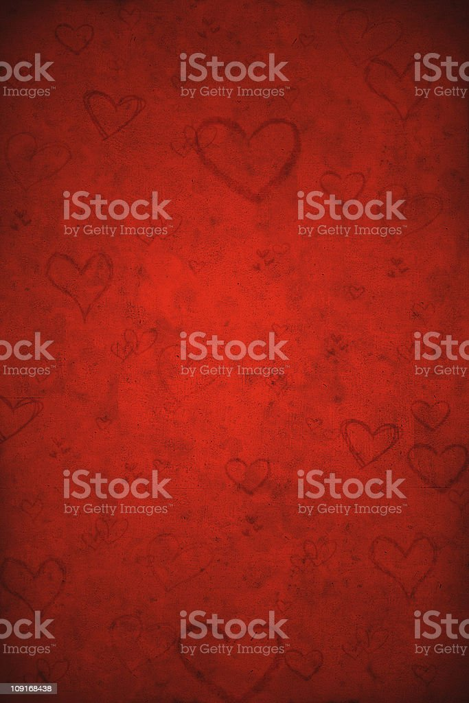 Valentine's Day Red Grunge Background stock photo