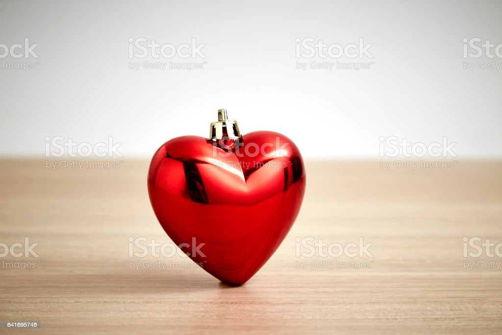 Valentines day red heart stock photo