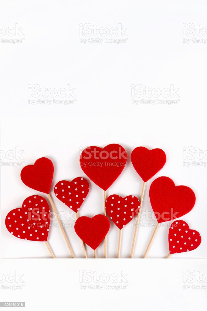Valentine's Day Red Hearts stock photo
