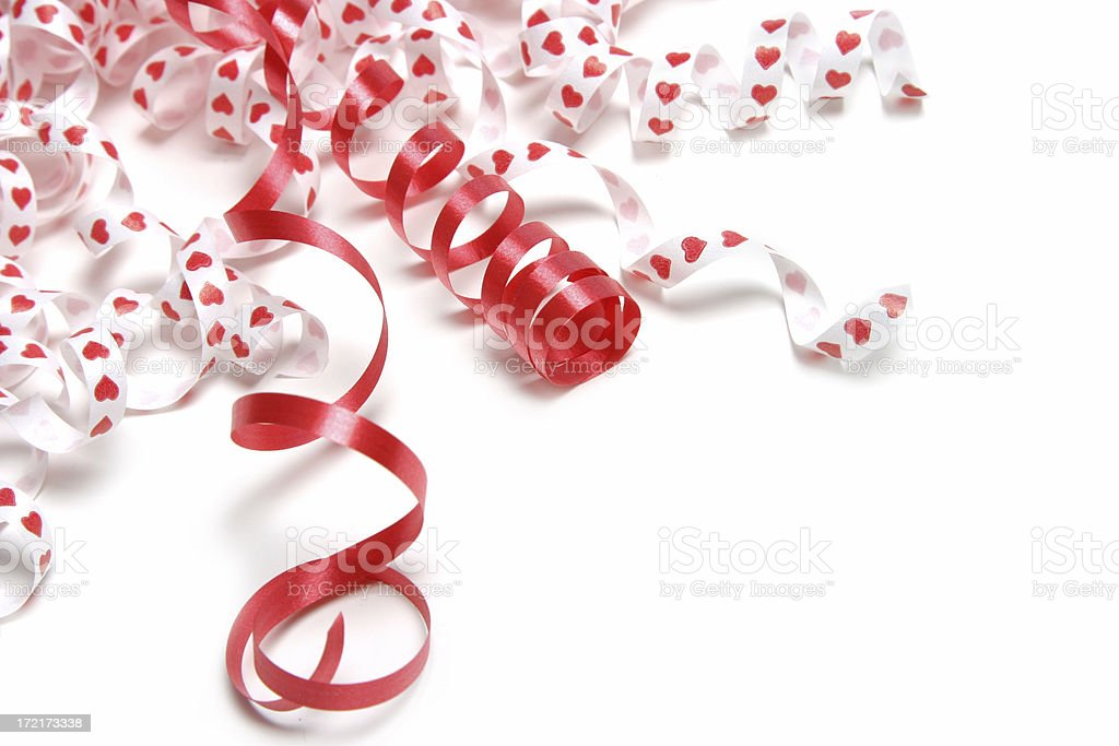 Valentine's Day Series (on white with copyspace ) royalty-free stock photo
