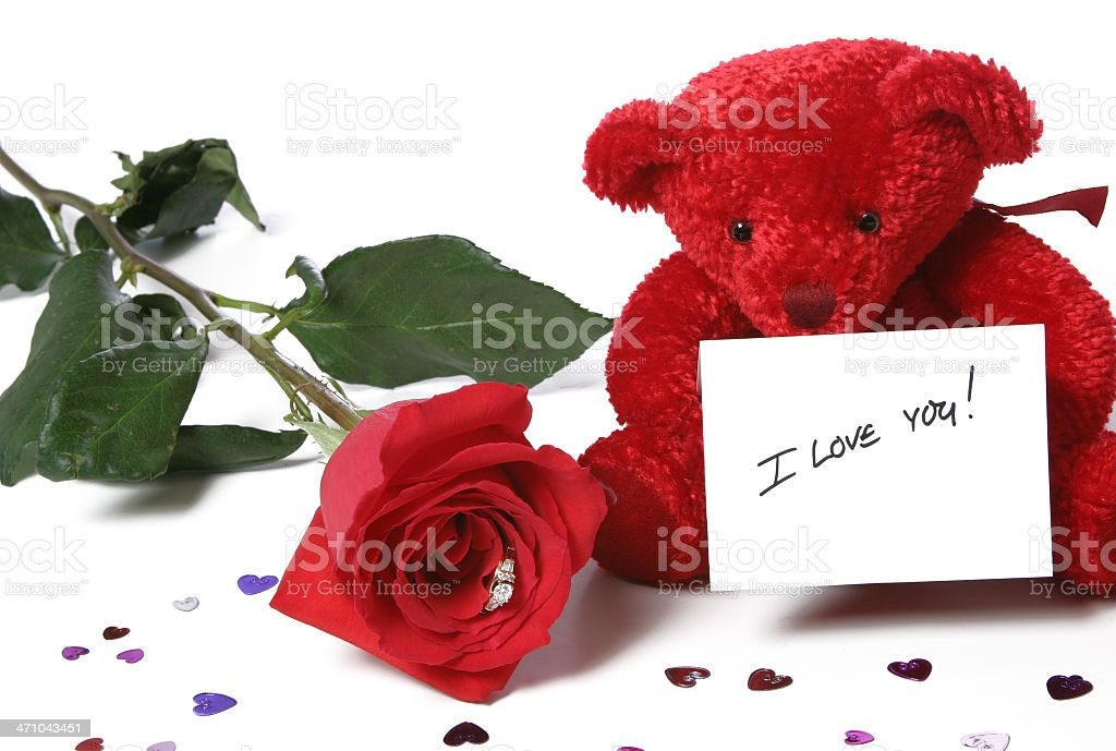 Valentine's Day Series (on a white background) stock photo