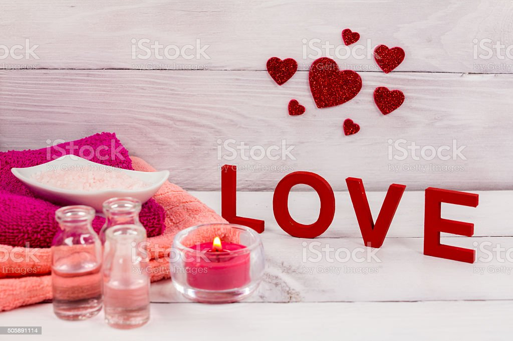valentines day spa word love red hearths royalty free stock photo - Valentines Day Spa