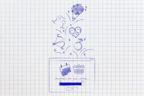 valentinstag symbole aus pop-up mit förderung be- - pop up stock-fotos und bilder