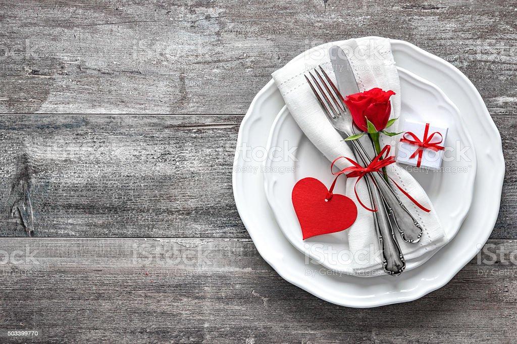 San Valentino Tavolo.San Valentino Tavolo Coperto Fotografie Stock E Altre