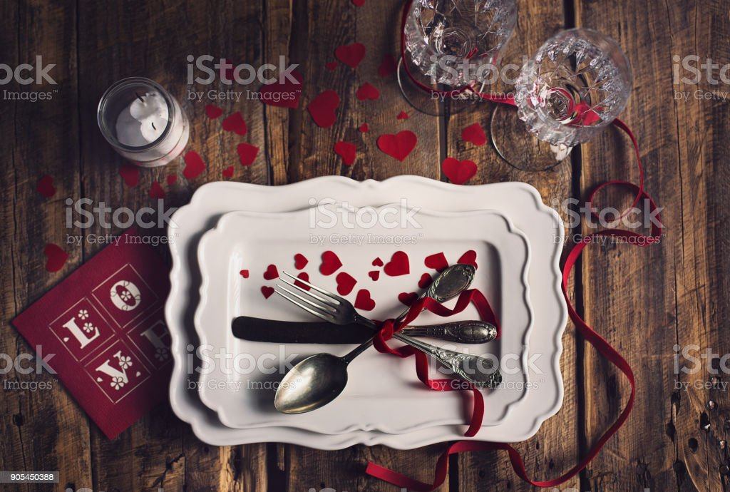 Valentines Day Table Setting Valentines Day Dinner Party Ideas Stock