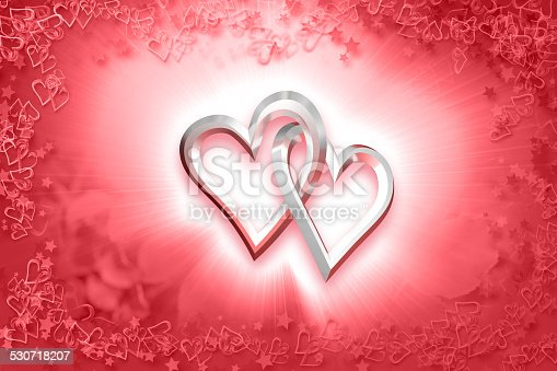 istock Valentine's Day - Two Silver Hearts 530718207