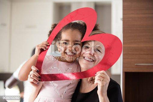 istock Valentine's Day with multi-ethnic family 903010260