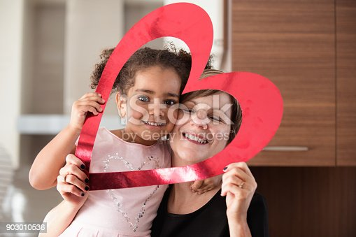 istock Valentine's Day with multi-ethnic family 903010536