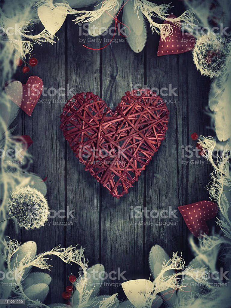 Valentines design - Love wreath stock photo
