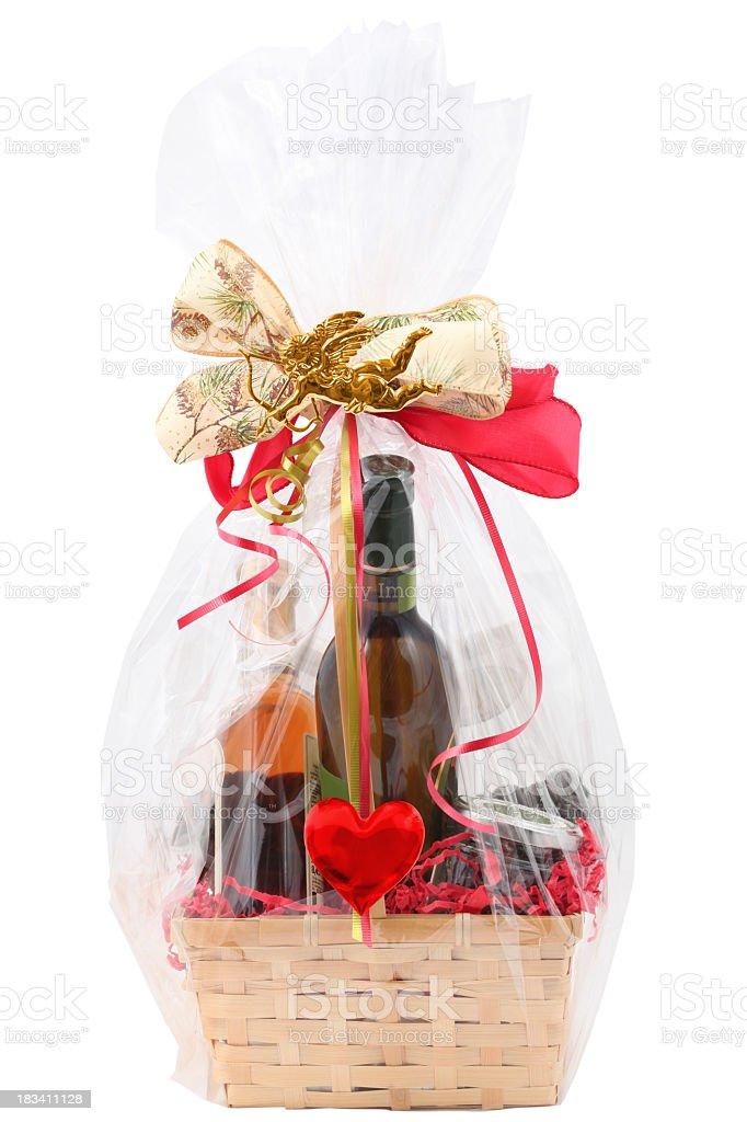 Valentine's food basket royalty-free stock photo