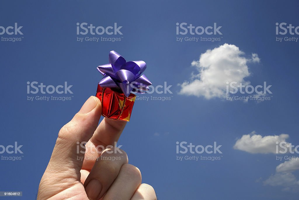 valentines gift and sky royalty-free stock photo
