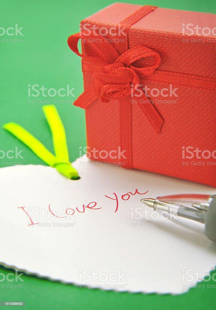 valentine's gift box royalty-free stock photo