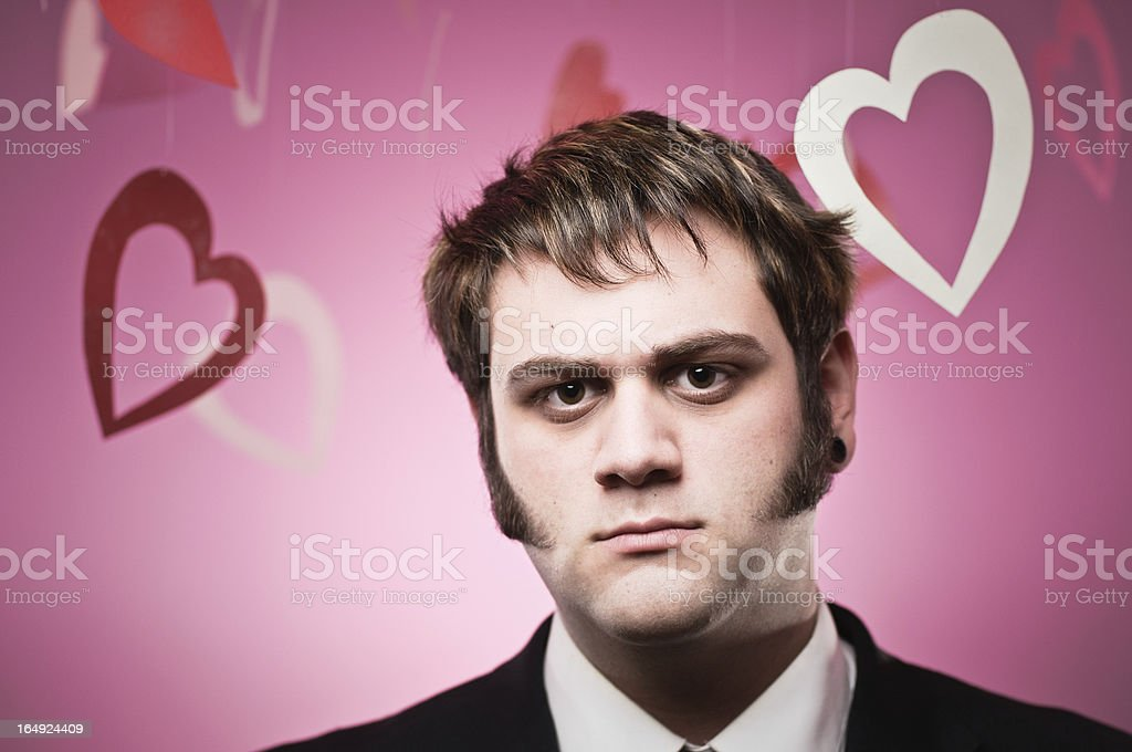 Valentines Gift Giving Man stock photo
