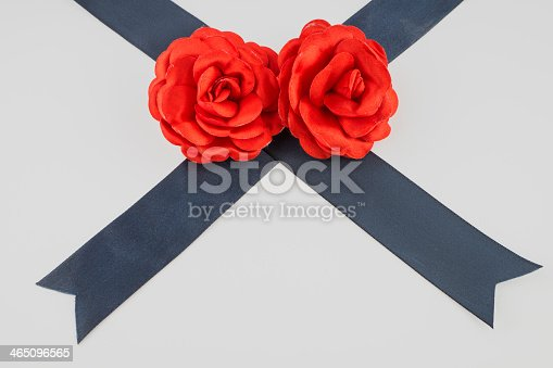 Red roses for valentine, isolated on a white background