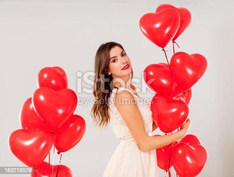 579443552istockphoto Valentine's girl 163218576
