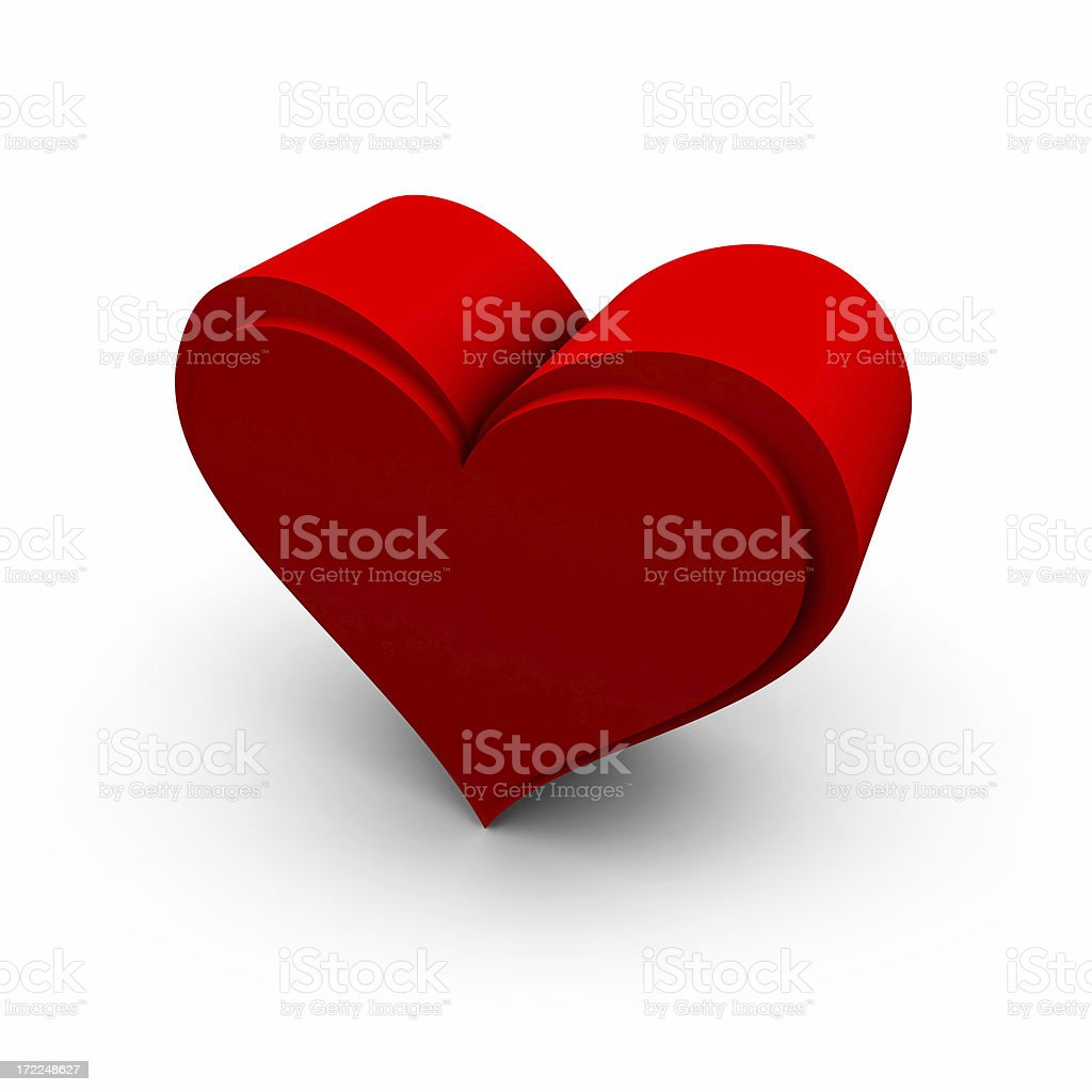 Valentines Heart in Red royalty-free stock photo