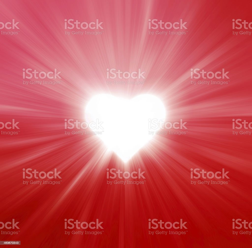 Valentines Hearts Abstract Red Background stock photo