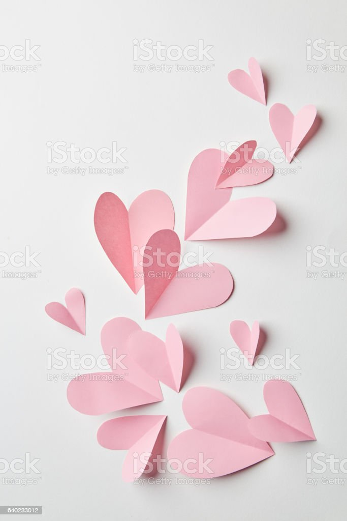 Valentines hearts background stock photo